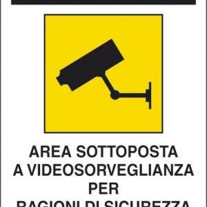 Attenzione! Area sottoposta a videosorveglianza per ragioni di sicurezza