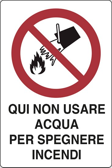 Qui non usare acqua per spegnere incendi
